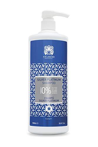 VALQUER PROfesional Shampoo Zero Silver Platinum Ohne Sulfate, Salz und Silikone. Weißes, graues und blondes Haar 1 l