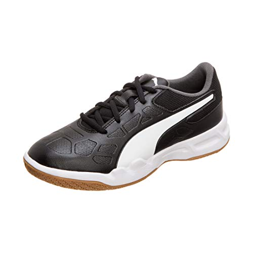 Puma Unisex-Kinder Tenaz Jr Multisport Indoor Schuhe, Black White-Iron Gate-Gum, 28 EU