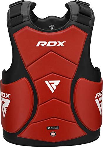 RDX Körperschutz Boxen Kampfsport MMA Körperschutzweste Kampfweste Taekwondo Körperpanzer Bauchschutz Taekwondo Training (MEHRWEG)
