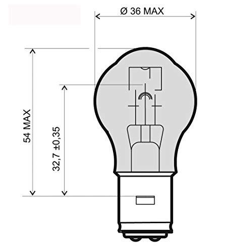 A2020 LAMP 12V 35/35W S2 BA20D