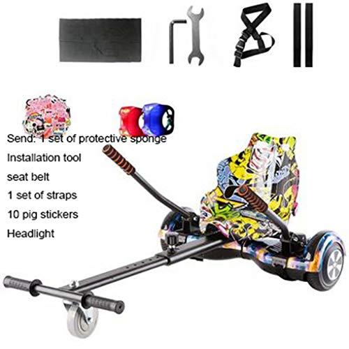 WEIFAN Hoverkart Kart - Verstellbarer Hovercart-Umbausatz, Balance Car Bracket Drift Car Twist Car Kart Universalmodell in Originalgröße , Graffiti