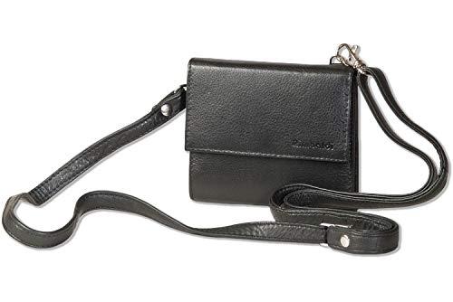 Rimbaldi® portemonnee/borsttas van het beste rund-nappaleder in zwart