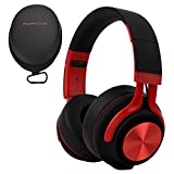 PowerLocus Auriculares Bluetooth Diadema P3,[Bluetooth 5.0,40h de música] Cascos Bluetooth Inalámbrico Plegable Casco Bluetooth y Audio Cable Sonido Estéreo con Micrófono para iPhone, Móviles, TV, PC