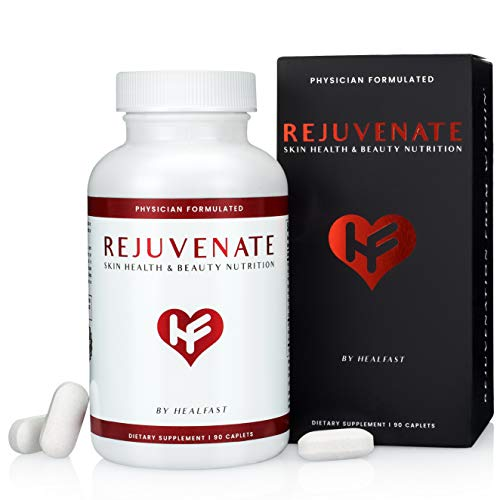41tONQiGcQL - HealFast Rejuvenate - Anti Aging Beauty & Skin Supplement - Clinically-Studied Ingredients w/Nicotinamide & Verisol Collagen Peptides - Physician Formulated - for Energy, Skin, Hair, Nails - 90 Pills
