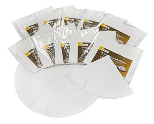 HEKU 30080: 60 Backpapierzuschnitte für Springformen in 26/28 cm, weiß