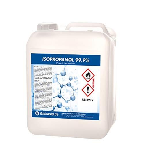Isopropanol 99,9{cb40402dcc52f78953bbdb7988f00f495325d59f500928d4aceda8640713fc92} 5 Liter Isopropylalkohol 2-Propanol Reinigungsmittel für Haushalt und Industrie Lösungsmittel und Fettlöser Lack- und Farb-Entferner Nagellack-Entferner Oberflächen-Reiniger