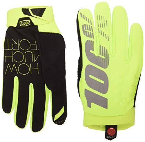 100% Erwachsene Brisker Handschuhe, Neon Gelb, XL