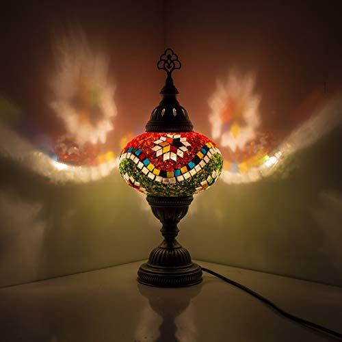 Lámpara turca (20 variaciones) – Lámpara de mesa de mosaico hecha a mano – Lámpara decorativa marroquí – Lámparas rústicas frescas – Lámpara de cristal manchado (20)
