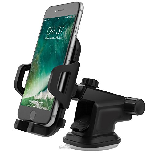 Handyhalterung Auto, FayTun KFZ Handyhalterung-Ständer mit Gel-Saugnapf und Einstellbarer Teleskoparm Universal Handy Autohalterung für iPhone,Samsung, HTC, Nokia,Blackberry,Huawei,LG,GPS und Mehr
