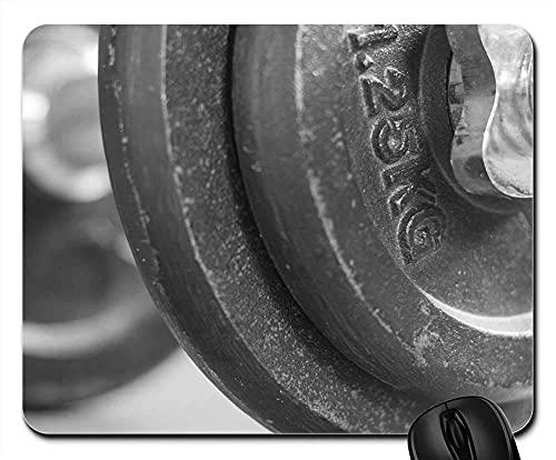 Mauspad - Hantel im Fitnessstudio wiegt Sport-Bodybuilding