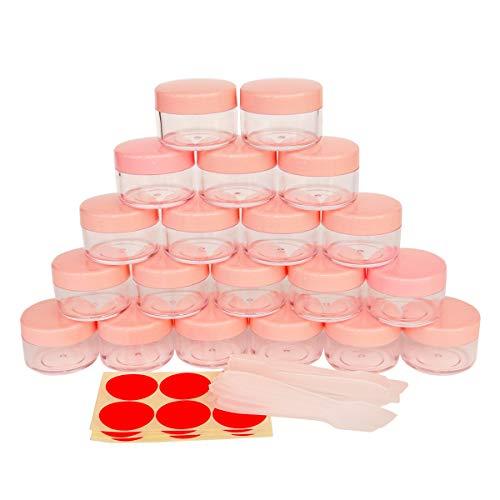 GreatforU 20 Stück 15g Leere Probengläser, Cremedöschen Kosmetikbehälter, 15ml Kosmetik Behälter mit Deckel für Make-up, Lidschatten, Nägel, Perlen, Lipgloss, Balsam, Badlotion, Gesichtscreme, Salben