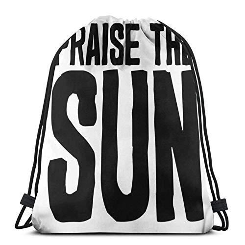 AOOEDM ¡Alabado sea el sol! Mochila deportiva Mochila con cordón Bolsa de gimnasio Saco