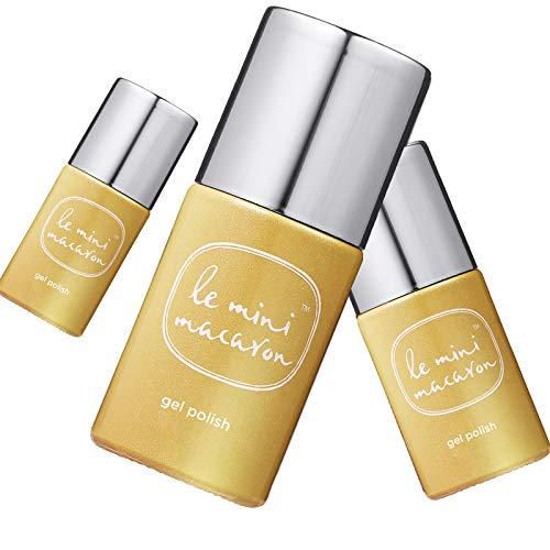 Le Mini Macaron • Vernis à Ongles UV 3 en 1 • Nail Gel Semi-Permanent • Séchage LED • Golden Glow Doré • 10ml