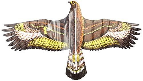 Paul Günther 1146 - Kinderdrachen mit Steinadler Motiv, Einleinerdrachen aus robuster PE-Folie für Kinder ab 4 Jahren mit Wickelgriff und Schnur, ca. 122 x 68 cm groß
