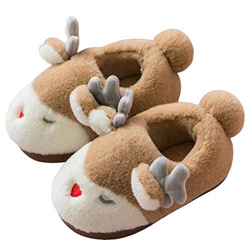 Watwass Tier Hausschuhe Baby Mädchen Plüsch Weich Pantoffeln Kinder Jungen Geschlossen Slipper Weihnachten 21-32