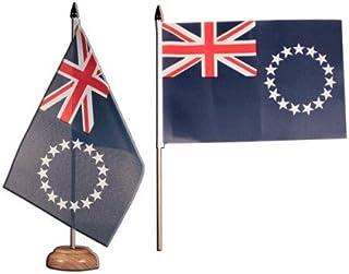 Flaggenfritze® bordsflagga Cook-öar – 15 x 22 cm