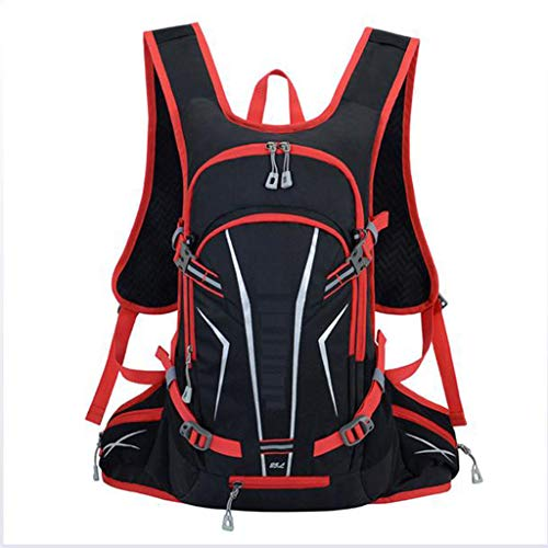 QICHENG Bike Backpack, Waterproof Breathable Cycling Bicycle Rucksack, 25L Biking Daypack Sport Bags for Fitness Running Hiking Climbing Camping Skiing Biking Trekking,Red