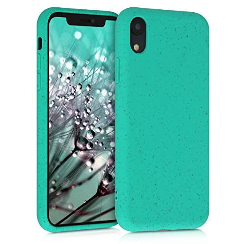 kalibri Carcasa Compatible con Apple iPhone XR - Funda de TPU y Trigo Natural ecológico - Menta