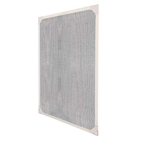 Sekey Pantalla de ventana magnética a medida, Kit de Pantalla de Insectos con Tiras Magnéticas para Ventanas de Hasta 110x130cm, Ensamblaje sin Herramientas, Marco Blanco