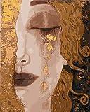 Pintura Por Números Pintura Al Óleo De Bricolaje Para Adultos Principiantes,Niña Llorosa Decoración Del Hogar Sin Marco 40X50Cm