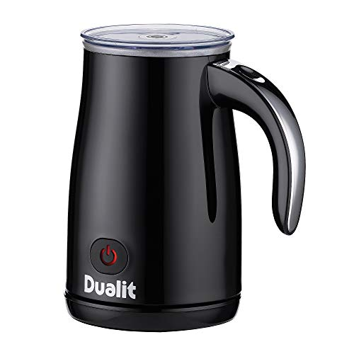 Dualit 84135 Triple Function Milk Frother - Make Hot/Cold Froth in 70 Seconds - Easy Clean 500ml Heat Milk Frother Machine - Removable Mess Free Milk Whisk - Plastic, Black