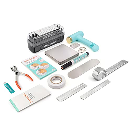 ImpressArt - Essential Metal Stamping Kit and Essential Bracelet Kit, Tools & Supplies for Hand Stamping Craft Projects, DIY Metal Jewelry Making