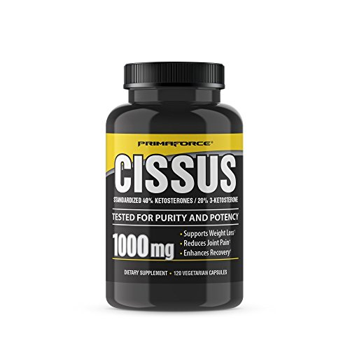 PRIMAFORCE CISSUS Standardized 40% Ketosterones 20% 3-Ketosterone 1000mg, 120 Capsules