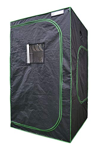 """Growtent Garden 48""""x48""""x80"""" Reflective 600D Mylar Hydroponic Grow Tent with Observation Window and Floor Tray for Indoor Plant Growing"""