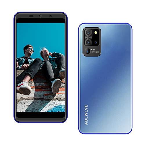 Teléfono Móvil Libres 4G, Android 9.1 Smartphone Libre, 5.5' HD, 2GB + 16GB, Cámara 8MP, Batería 3600mAh, Smartphone Barato Dual SIM, Face ID Moviles Baratos y Buenos (2*SIM+1*SD)-Azul