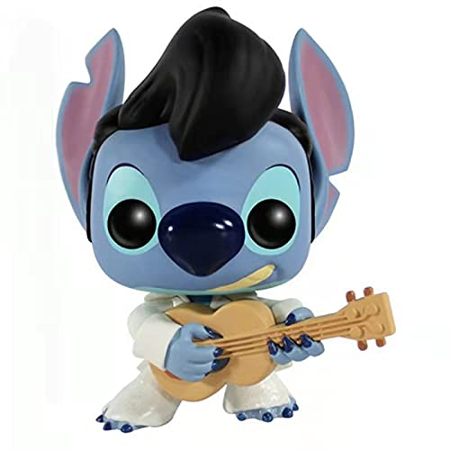 ODEUXS Interstellar Baby Stitch Elvis Doll Ornament Model Height 10cm (3.93inch) Birthday Gift, Home Decoration Ornaments