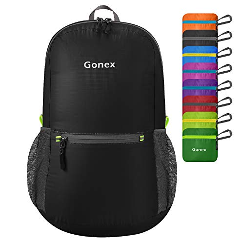 Gonex Ultralight Handy Travel Backpack,Water Resistant Packable Backpack Hiking Daypack Lightweight Foldable Camping Outdoor Travel Cycling School Backpacking 20 Liters 8 Color Choices