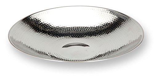 DRULINE Dekoschale Obstschale Aluschale aus Aluminium | Ø 36,5 cm | Silber