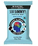 SKiNNY JiMMY! Wake & Focus Protein Bar, Cookies 'N Cream Flavor, 7g Protein, Under 100 Calories, With Guarana Caffeine, Omega 3 and MCT Oils, Gluten Free, 24 Count, Packaging May Vary
