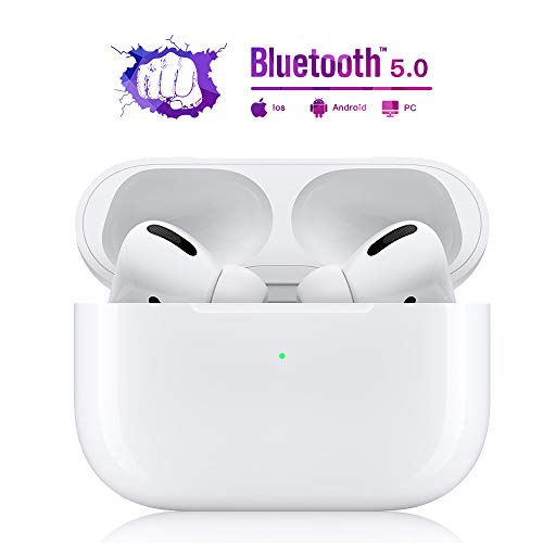 Auriculares Bluetooth 5.0, auriculares inalámbricos, auriculares deportivos, IPX6 a prueba de agua, reducción de ruido estéreo 3D, adecuado para Apple Airpods Pro / Android / iPhone / Samsung