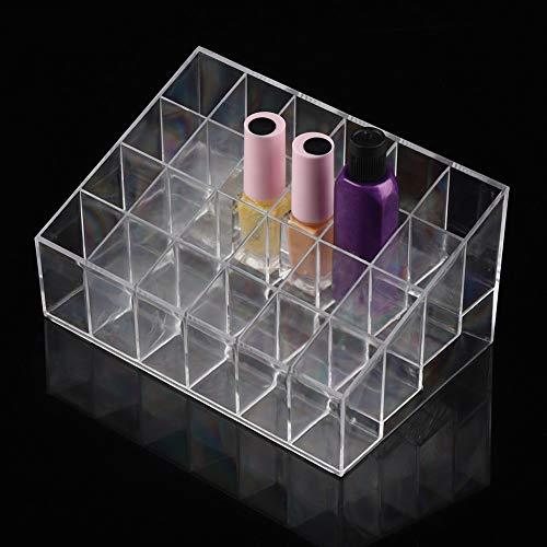 Support de rouge à lèvres, Fydun support de présentoir pour organisateur Transparent 24 grilles Support de rouge à lèvres support pour présentoir pour organisateur Vernis à ongles