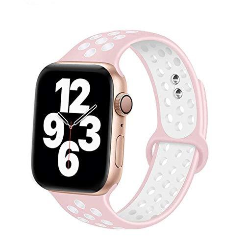 KAPU Correa De Silicona para Apple Watch Band 40Mm 44Mm Accesorios Cinturón Transpirable Pulsera Deportiva para Iwatch Series 6 5 4 3 Se 38Mm 42 Mm