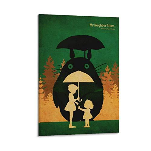 CHAOZHE Póster vintage retro de papel anime-poster-Tonari-no-Totoro-Miyazaki, cuadro decorativo de pared, para sala de estar, dormitorio, 60 x 90 cm