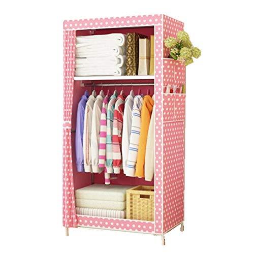 Yaunli eenvoudige kledingkast draagbare kledingkast vlies stalen buismontage, eenvoudige slaapzaal, verhuur, enkele kast, opslagkast, stoffen garderobe kabinet kleding opslag