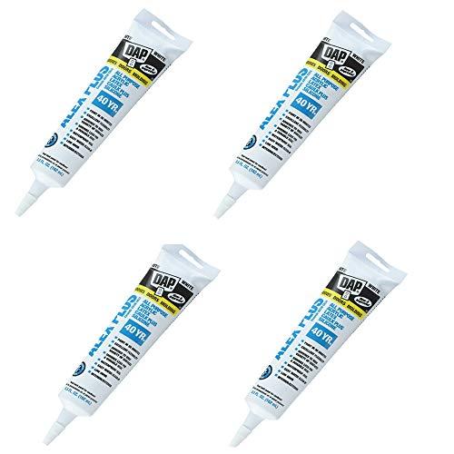 Dap 18128 Alex Plus Acrylic Latex Caulk Plus Silicone 5.5-Ounce - 4 Pack