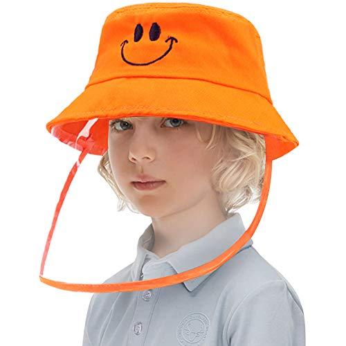 LETOUR Protector Facial Niños Gorra, Sombrero con Pantalla Protectora Anti-Saliva Anti-vaho A Prueba de Polvo Sombra Cubierta de Seguridad Anti UV Gorra Solar para Rostro Completo