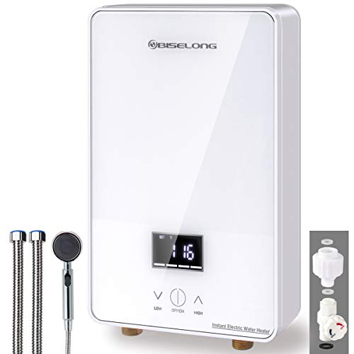 Tankless Water Heater Electric Hot Water Heater, Compact Size Point-of-Use Instant No Standby Losses, Digital Display,...
