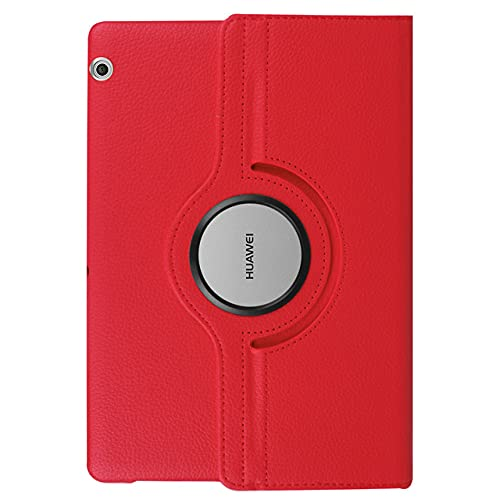 LIUCHEN Funda para tablet Huawei Mediapad T5 10 T3 9.6 '8 7.0 Wifi BG2-W09 AGS-W09/L09 KOB-L09/W09 360 Funda de cuero PU giratoria, rojo, T8 8.0 Kobe2, L09, L03