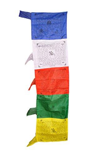 Dharma StoreTibetisch-buddhistische Gebetsfahnen für Glück, Freude, Langlebigkeit & Wohlstand–50er-Packung, Traditional Vertical