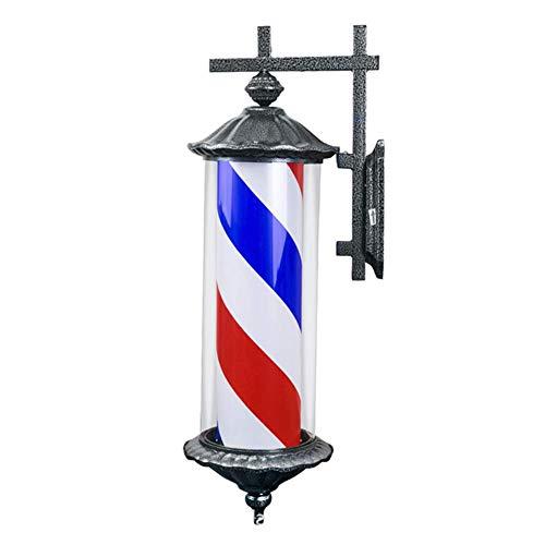 NCCTRW Barber Pole Led Light, Letrero De Peluquería para Peluquería De Estilo Retro Al Aire Libre Letrero De Peluquería, Impermeable Ahorre Energía Montable En La Pared 70cm / 28in,Azul