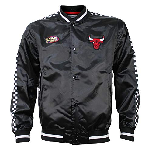 Mitchell & Ness M&N Herren NBA College Jacke Chicago Bulls Satin schwarz