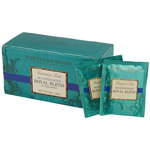 FORTNUM & MASON, London - ROYAL BLEND DECAFFEINATED - 75 tea bags (3 boxes of 25 bags)