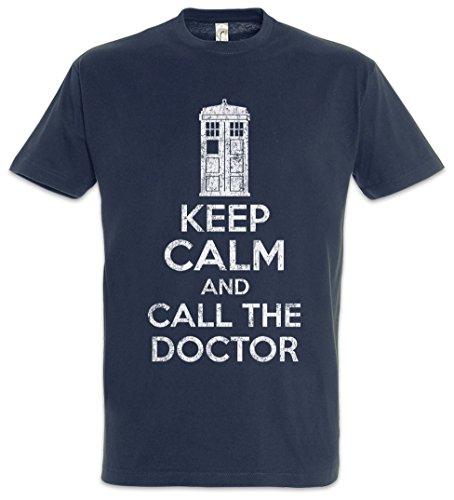 Urban Backwoods Keep Calm and Call The Doctor Herren T-Shirt Blau Größe L