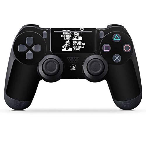DeinDesign Aufkleber Skin Folie für Sony Playstation 4 Pro Controller PS4 Pro Controller Schutzfolie Eintracht Frankfurt Bruder Adler