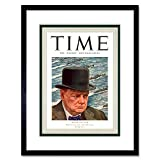 9x7 '' Magazine 1941 Winston Churchill Man Year TIME Framed