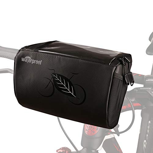 BAIGIO Borsa Manubrio Bici MTB Impermeabile Borsa Bicicletta Anteriore con Touchscreen per Telefono/Navigatore, Borsa da Manubrio Mountain Bike, 3L Grande Capacita Multitasche (Nero)